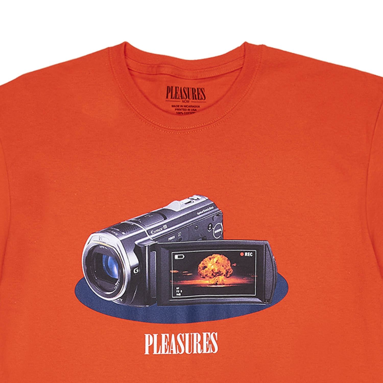 【PLEASURES/プレジャーズ】RECORDING T-SHIRT Tシャツ / ORANGE