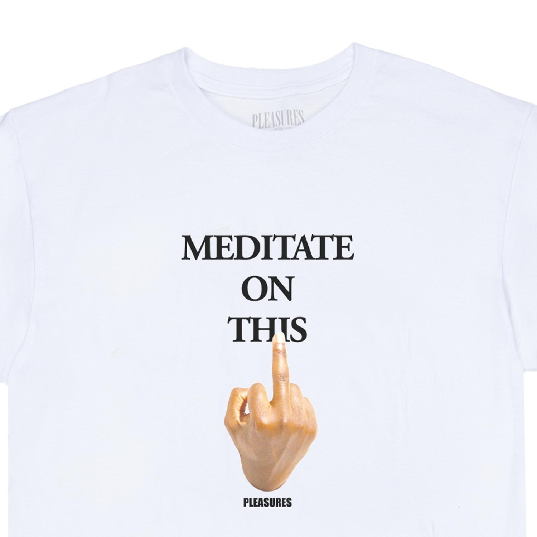 【PLEASURES/プレジャーズ】MESSAGE T-SHIRT Tシャツ / WHITE