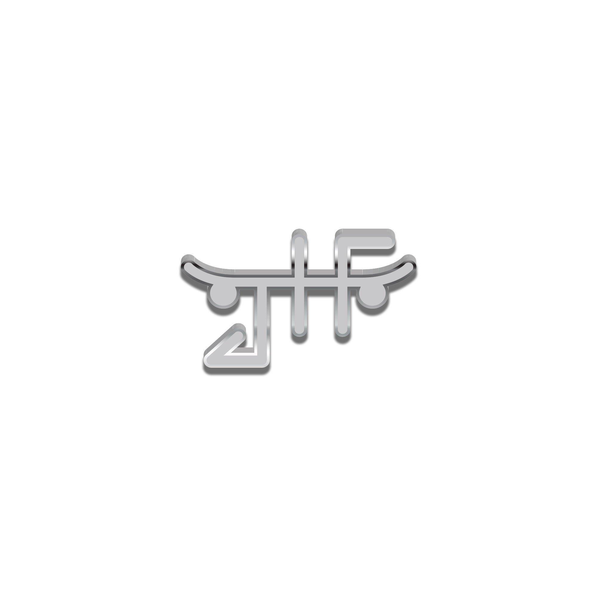 【JUST HAVE FUN/ジャストハブファン】JHF LOGO PIN ピンバッチ / SILVER