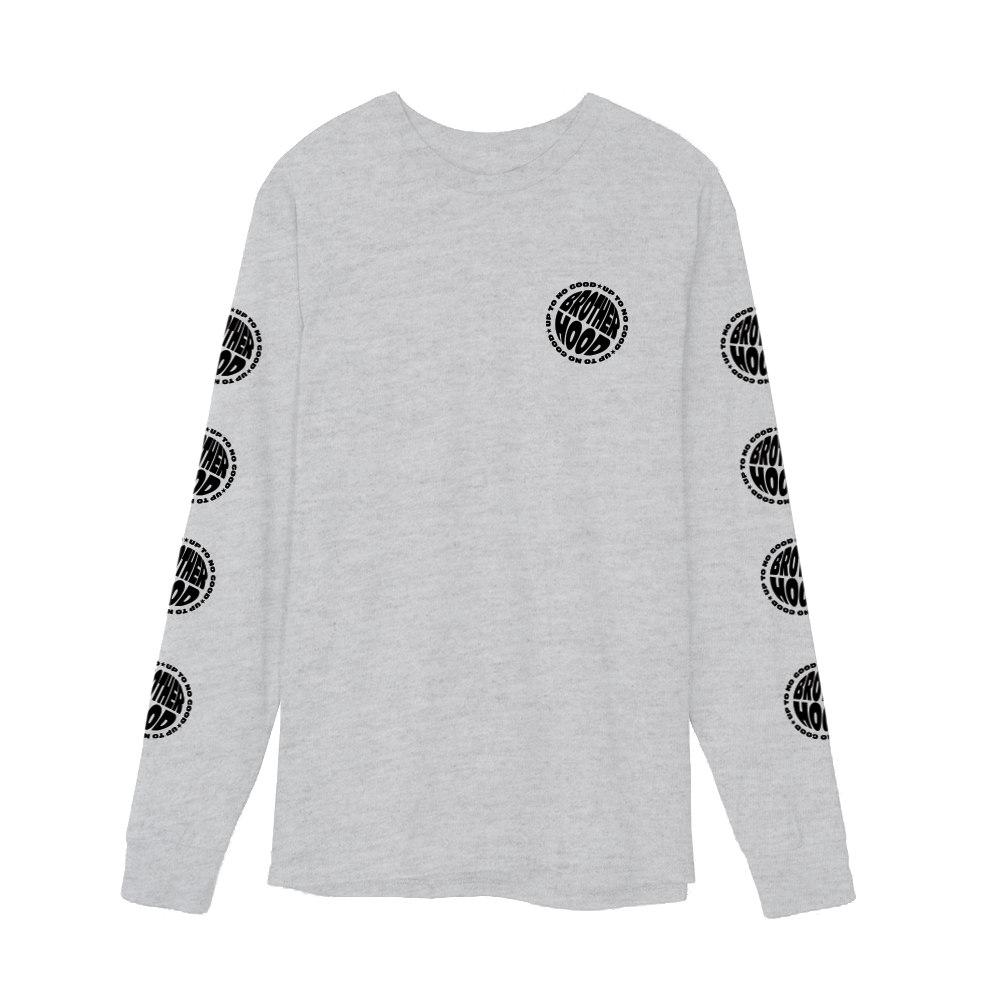 【BROTHER HOOD/ブラザーフッド】UP TO NO GOOD LONG SLEEVE ロングTシャツ / ASH GREY