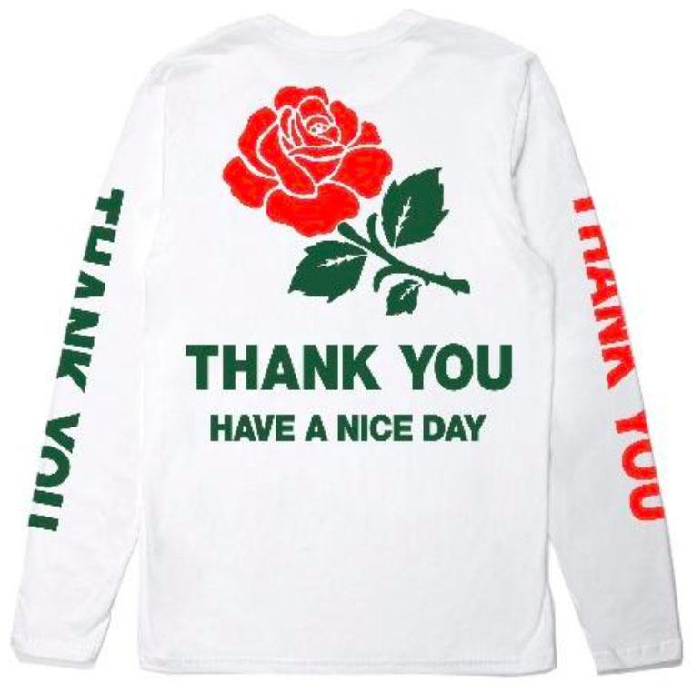 【CHINATOWN MARKET/チャイナタウンマーケット】THANK YOU LONG SLEEVE ロングTシャツ / WHITE