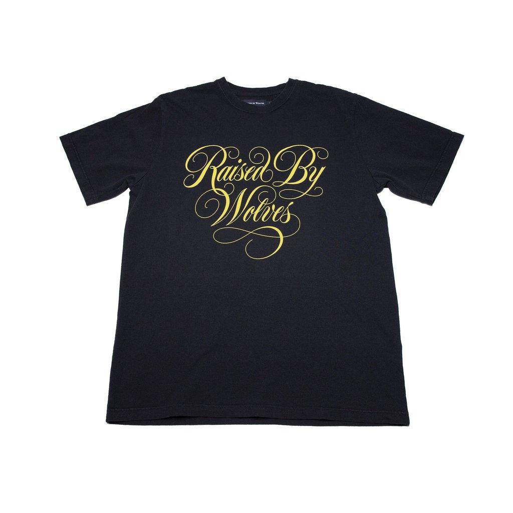 【RAISED BY WOLVES/レイズドバイウルブス】SPENCERIAN TEE Tシャツ / BLACK