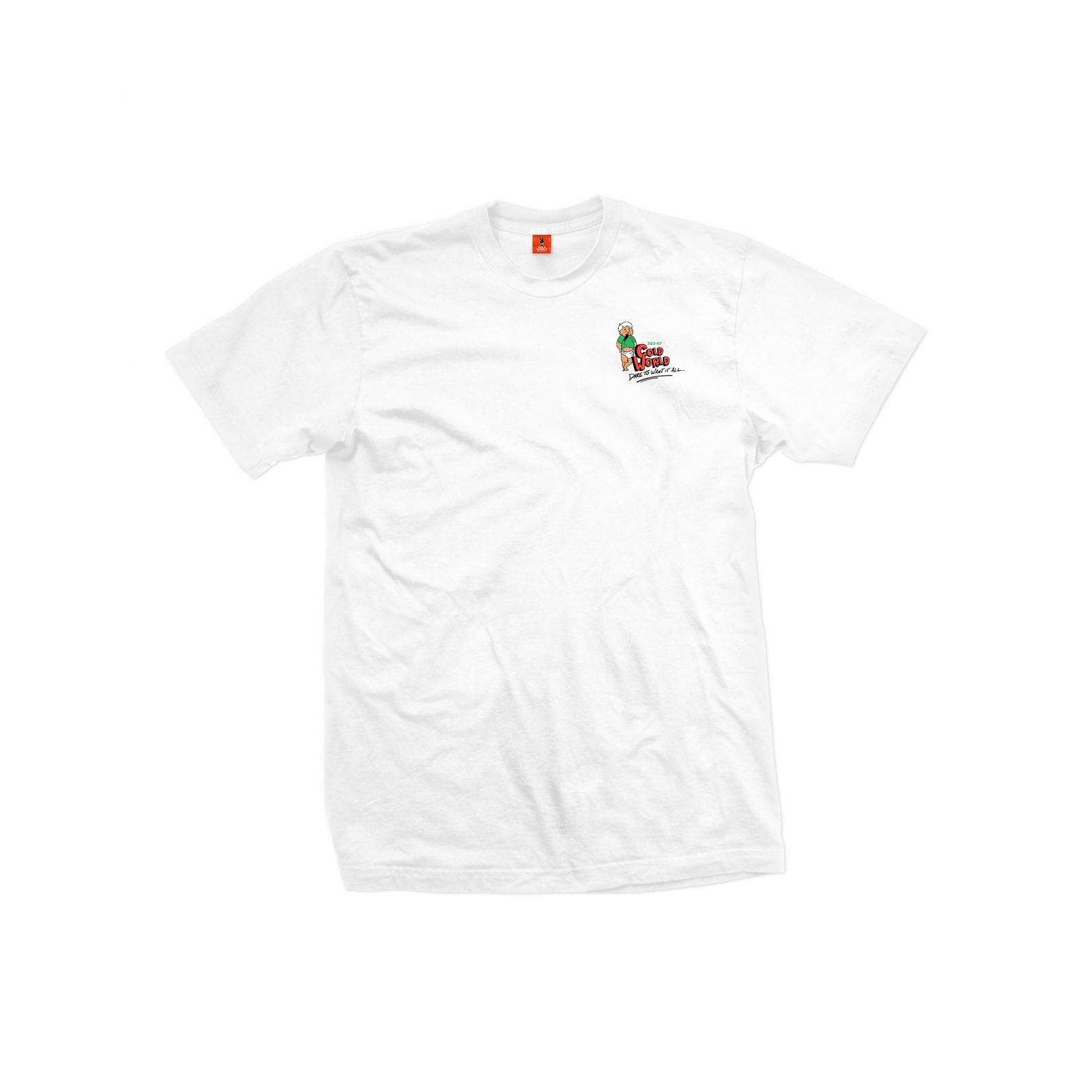 【COLD WORLD FROZEN GOODS/コールドワールドフローズングッズ】BORN WINNER T-SHIRT Tシャツ / WHITE
