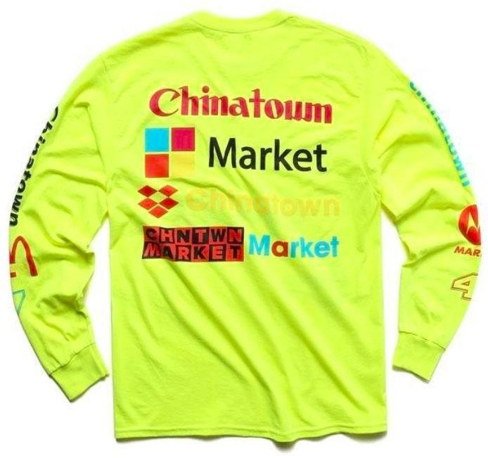 【CHINATOWN MARKET/チャイナタウンマーケット】NASCAR LONGSLEEVE ロングTシャツ / NEON