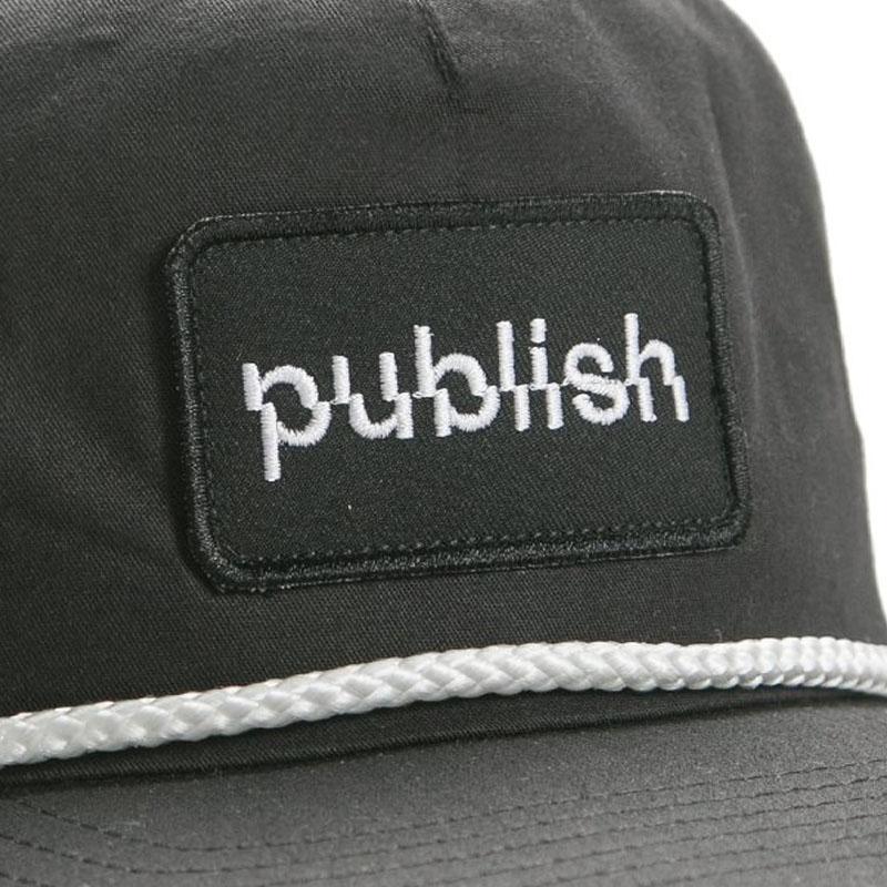 【PUBLISH BRAND/パブリッシュブランド】LIFTED スナップバックキャップ / BLACK