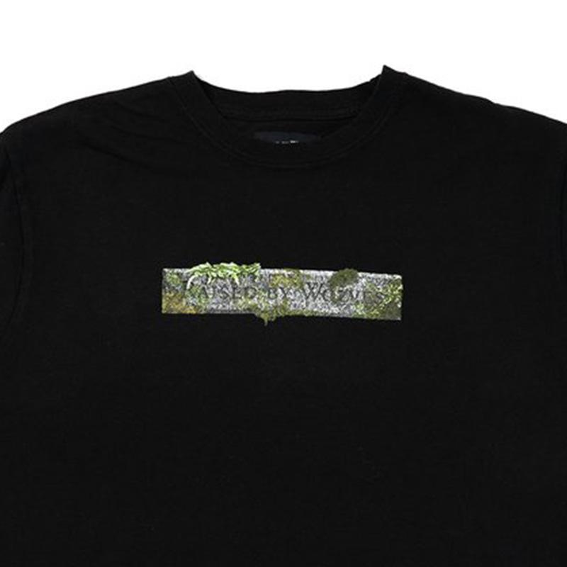 【RAISED BY WOLVES/レイズドバイウルブス】STONE LOGO T-SHIRT Tシャツ / BLACK