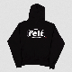 【FELT/フェルト】WORK LOGO SWEATSHIRT パーカー / BLACK