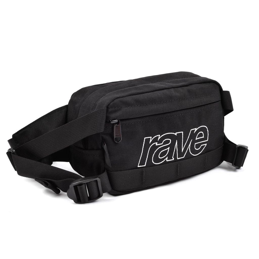【RAVE SKATEBOARDS/レイブスケートボード】HIP PACK ALL BLACK ヒップパック /