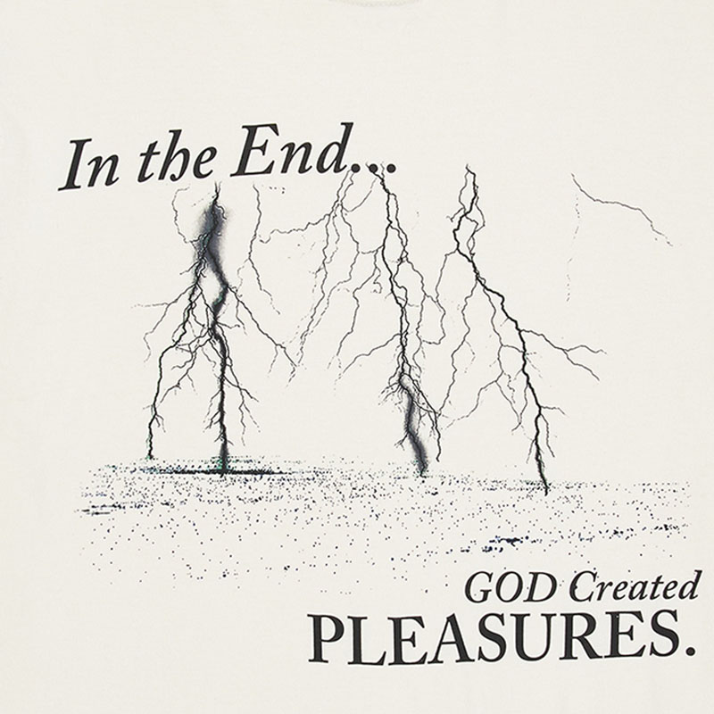 【PLEASURES/プレジャーズ】END TIMES PIGMENT DYE T-SHIRT Tシャツ /  WASHED NATURAL