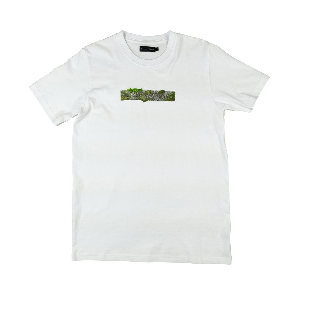 【RAISED BY WOLVES/レイズドバイウルブス】STONE LOGO T-SHIRT Tシャツ / WHITE