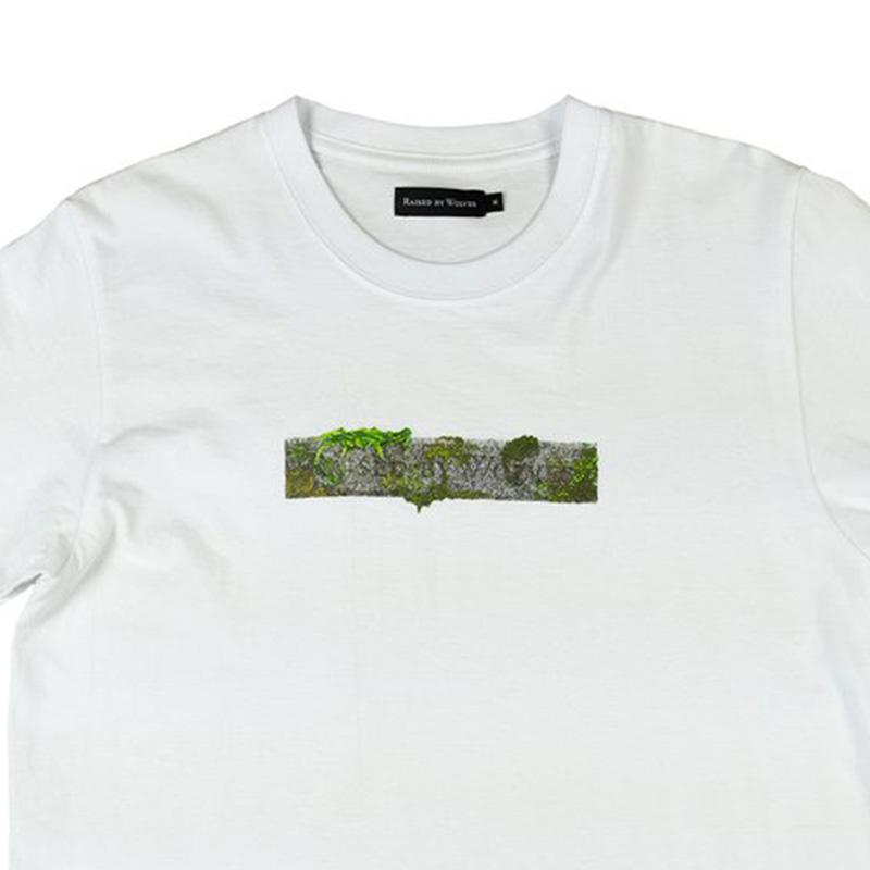 【RAISED BY WOLVES/レイズドバイウルブス】STONE LOGO T-SHIRT Tシャツ / WHITE