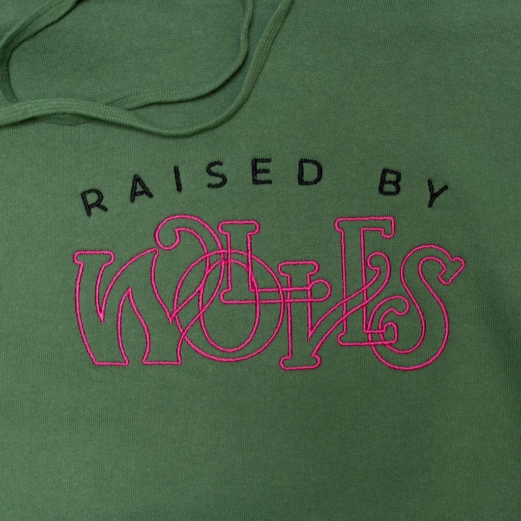 【RAISED BY WOLVES/レイズドバイウルブス】MENTHOL HOODIE パーカー / SPRUCE