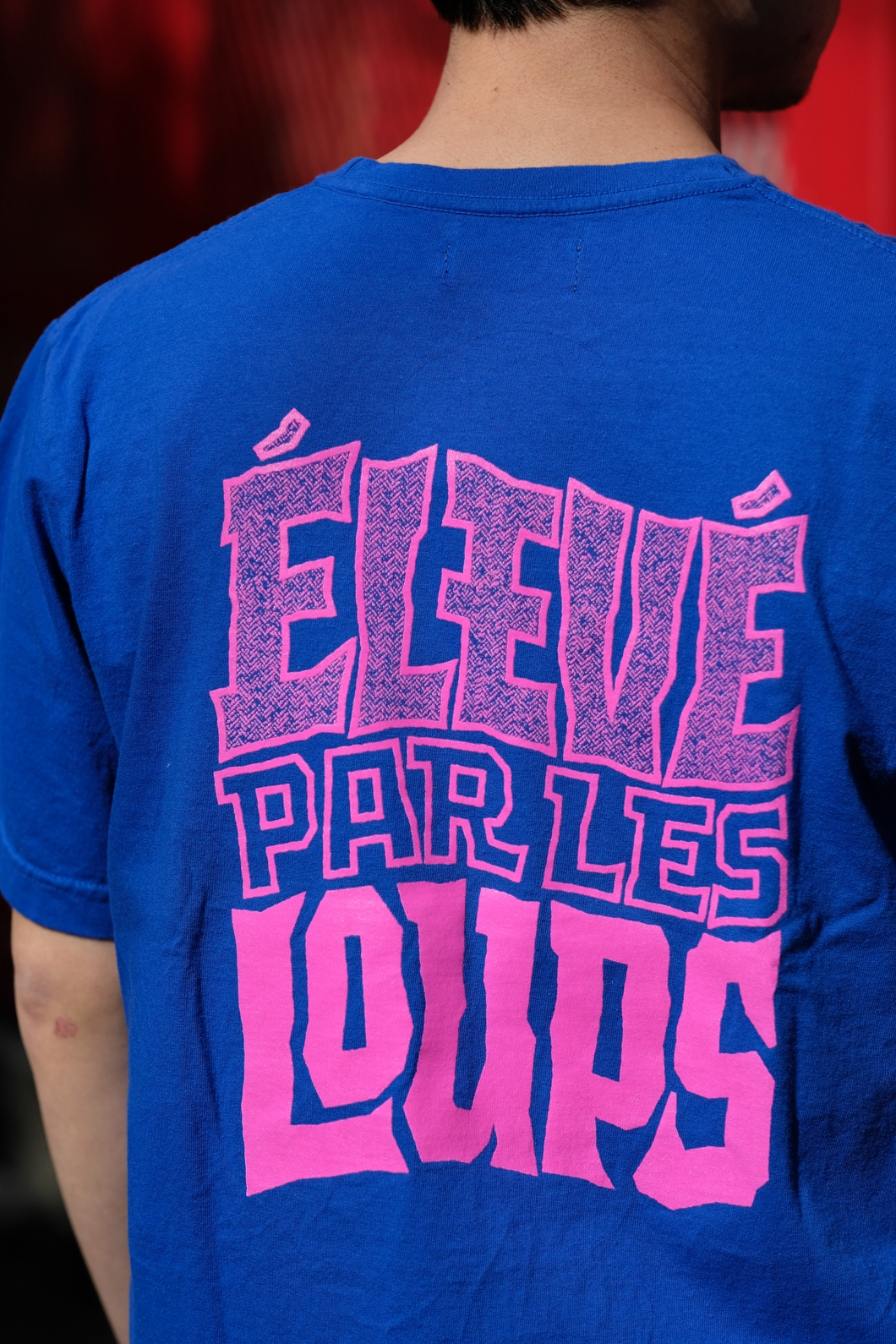 【RAISED BY WOLVES/レイズドバイウルブス】ELEVE PAR LES LOUPS TEE Tシャツ / ROYAL