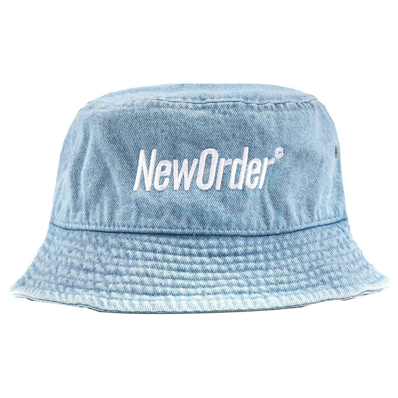 【PLEASURES/プレジャーズ×NEW ORDER/ニュー・オーダー】REPUBLIC BUCKET HAT バケットハット / WASHED DENIM