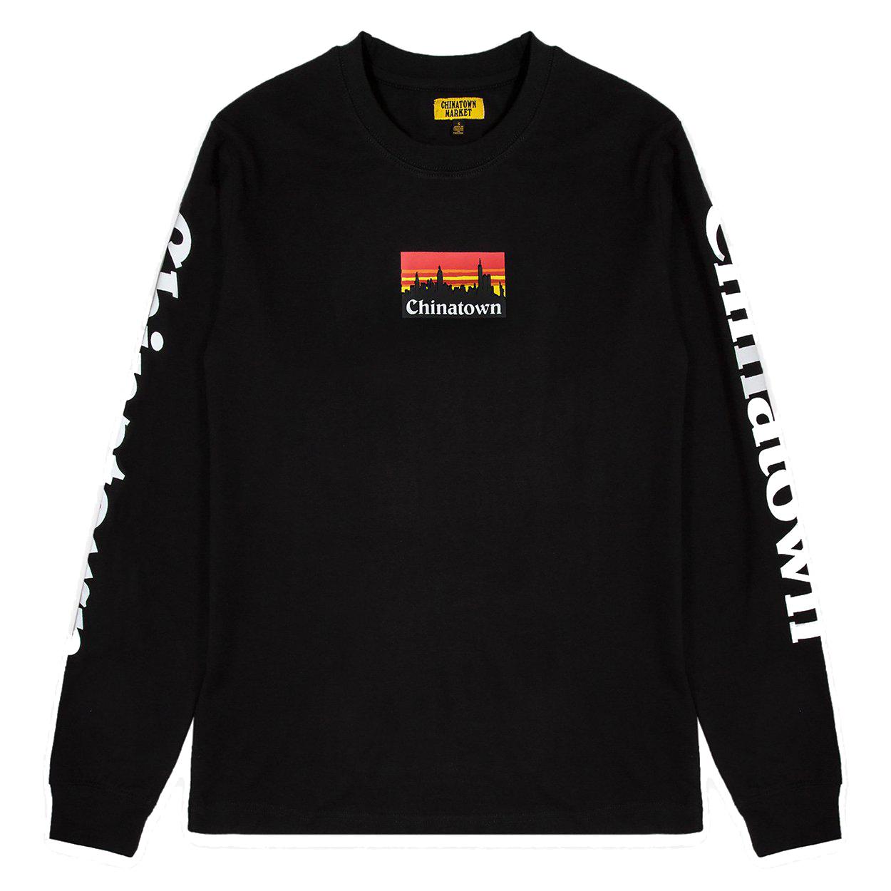 【CHINATOWN MARKET/チャイナタウンマーケット】CTM SMU LS ロングTシャツ / BLACK