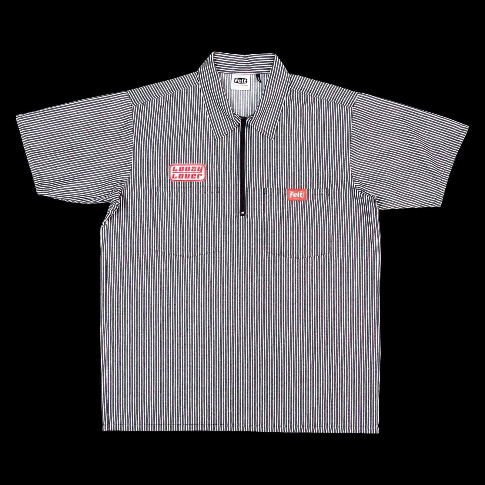 【FELT/フェルト】SCULPTOR QUARTER ZIP WORK SHIRT ワークシャツ / BLACK