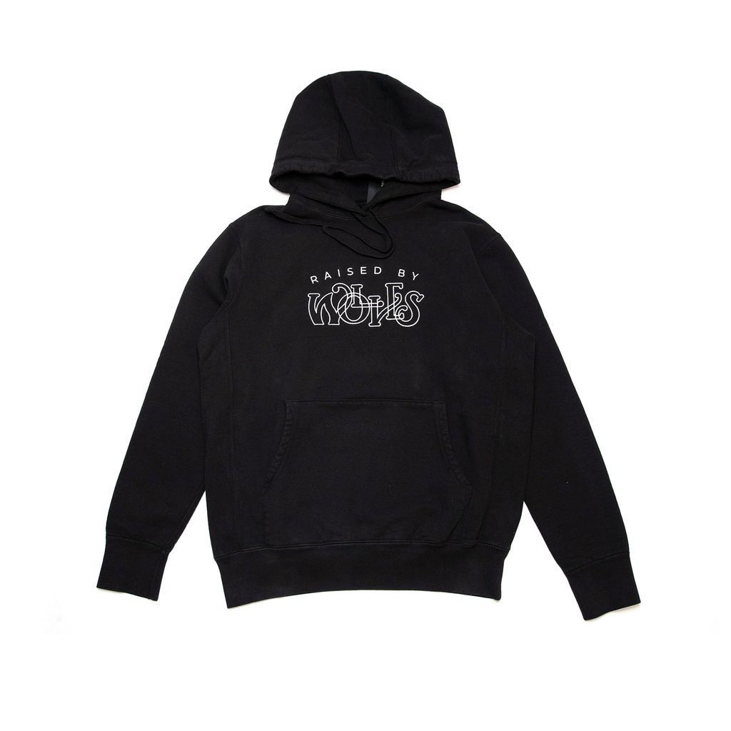 【RAISED BY WOLVES/レイズドバイウルブス】MENTHOL HOODIE パーカー / BLACK