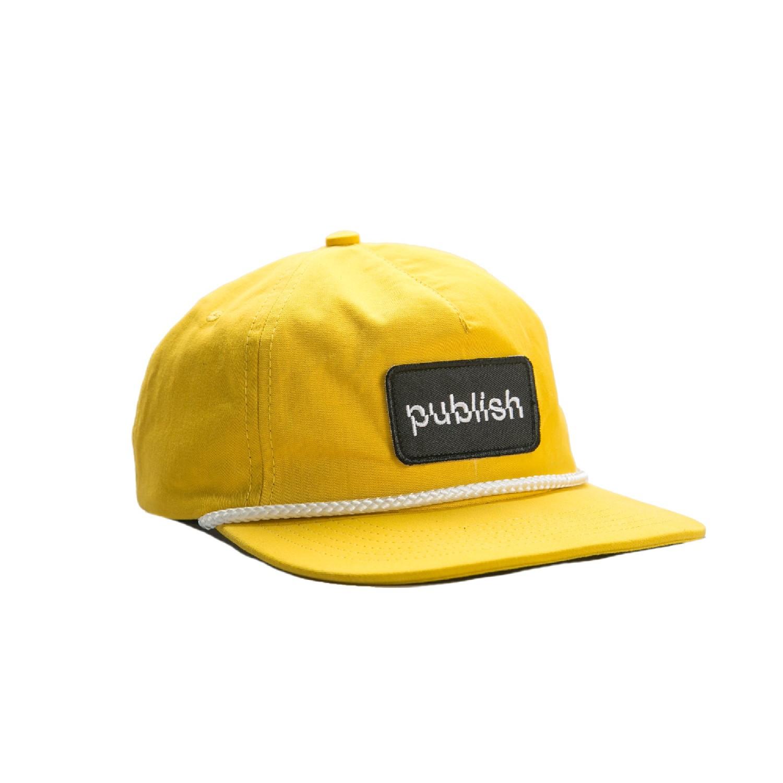 【PUBLISH BRAND/パブリッシュブランド】LIFTED スナップバックキャップ / YELLOW