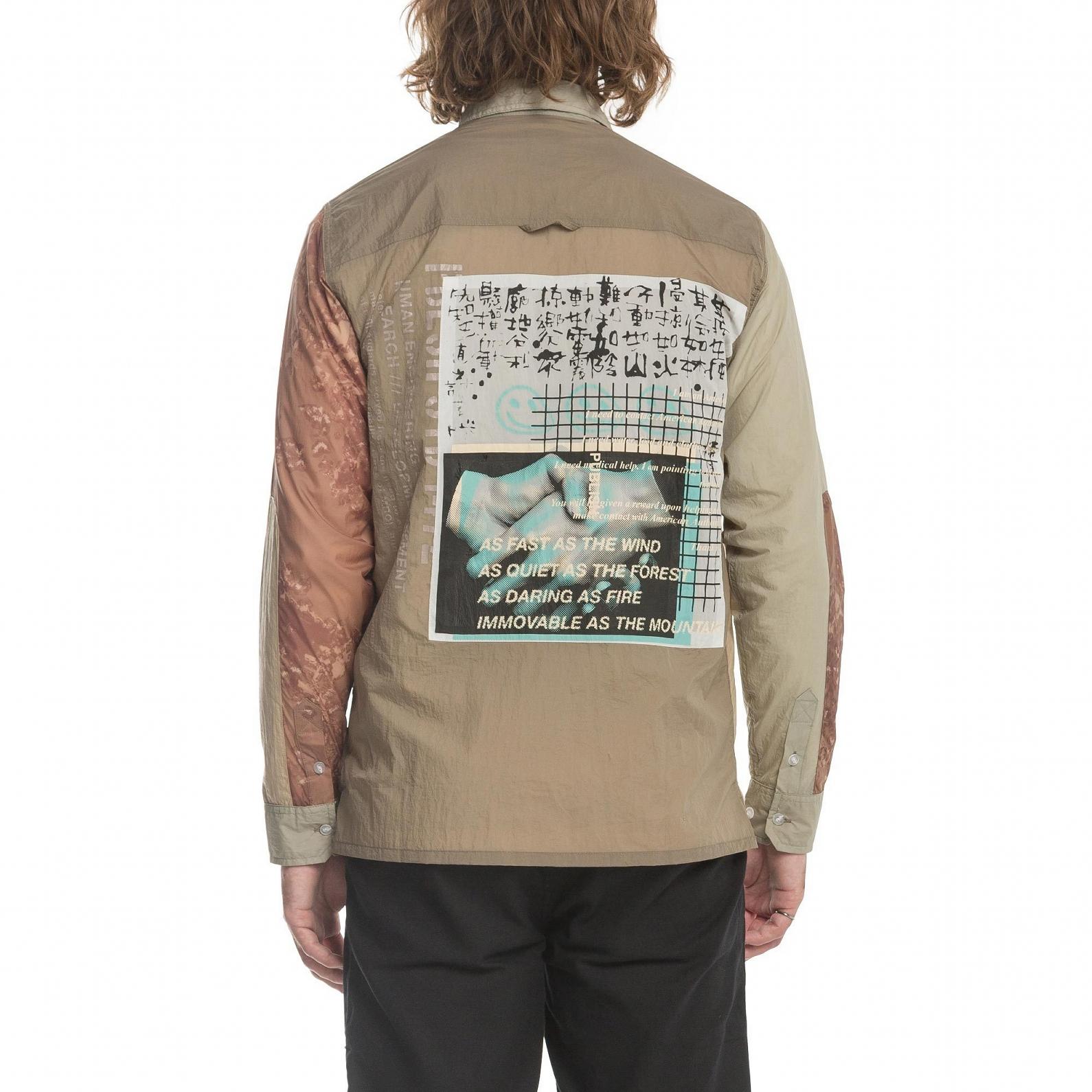 【PUBLISH BRAND/パブリッシュブランド】MELLER ナイロンシャツジャケット / STONE