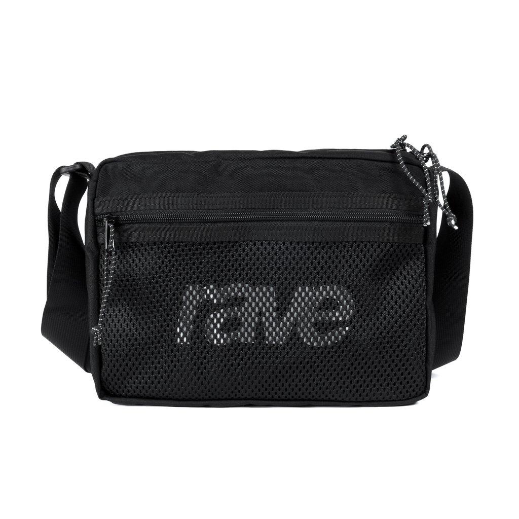 【RAVE SKATEBOARDS/レイブスケートボード】SHOULDER BAG ALL BLACK ショルダーバッグ /