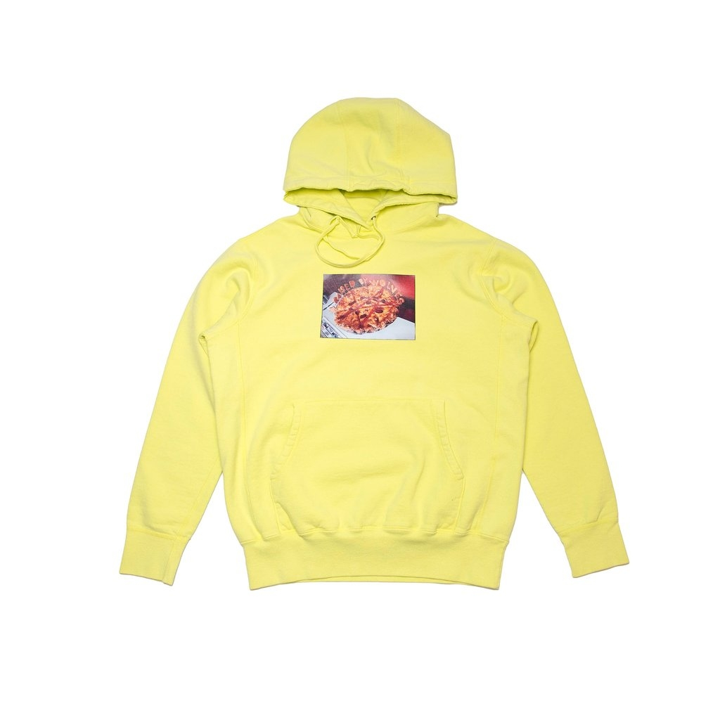【RAISED BY WOLVES/レイズドバイウルブス】PIZZA HOODIE パーカー / LIME