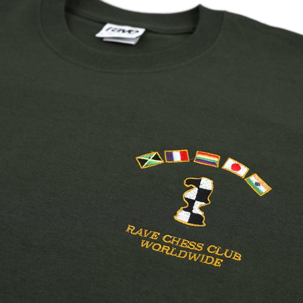 【RAVE SKATEBOARDS/レイブスケートボード】KASPAROV TEE Tシャツ / FOREST
