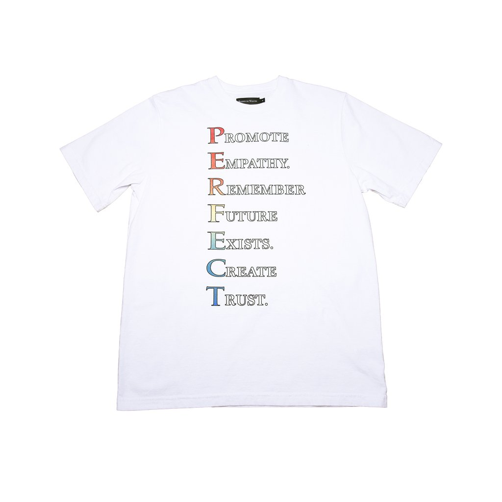 【RAISED BY WOLVES/レイズドバイウルブス】PERFECT TEE Tシャツ / WHITE