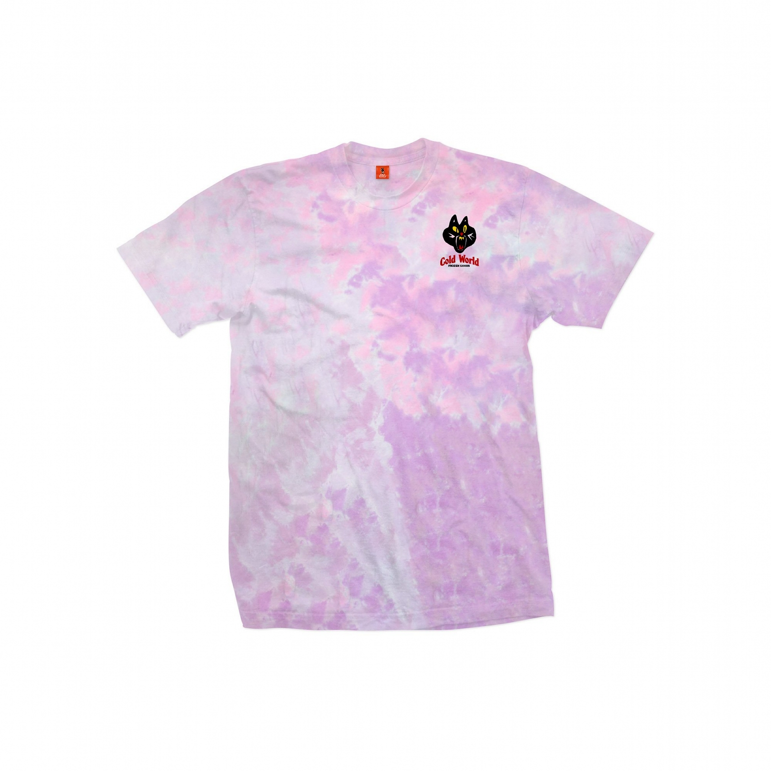 【COLD WORLD FROZEN GOODS/コールドワールドフローズングッズ】JAZZ CAT T-SHIRT Tシャツ / COTTON CANDY TIE DYE