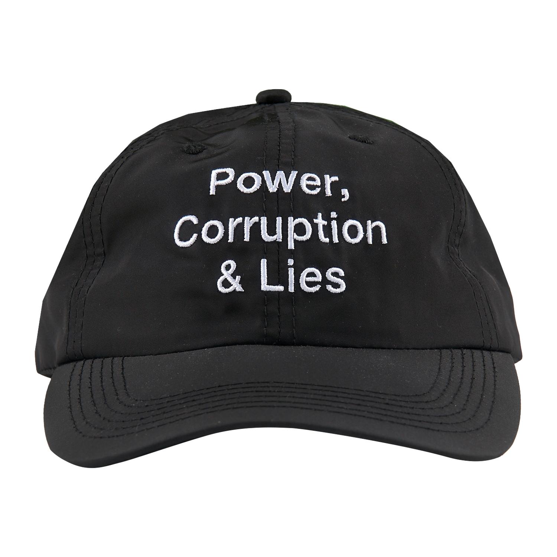 【PLEASURES/プレジャーズ×NEW ORDER/ニュー・オーダー】POWER POLO CAP ポロキャップ / BLACK