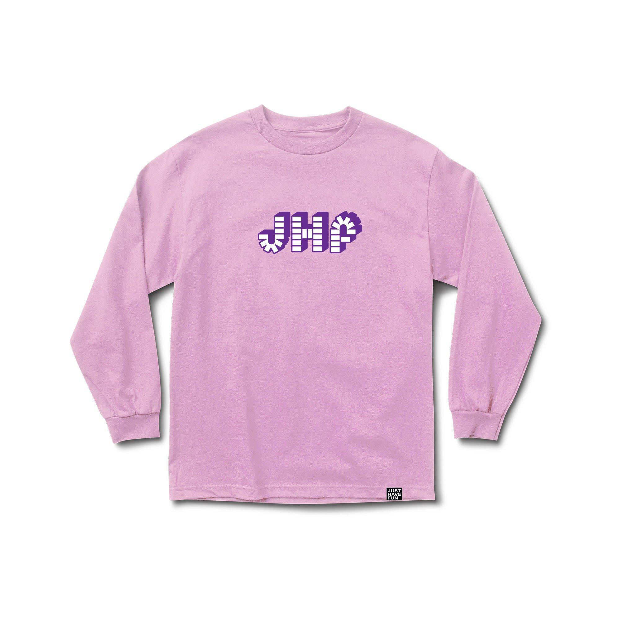 【JUST HAVE FUN/ジャストハブファン】BRICK BY BRICK LS TEE Tシャツ / PINK