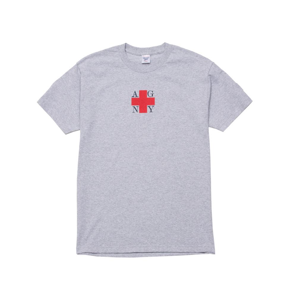 【ACAPULCO GOLD/アカプルコ ゴールド】AGNIY SQUARE LOGO TEE Tシャツ / GREY