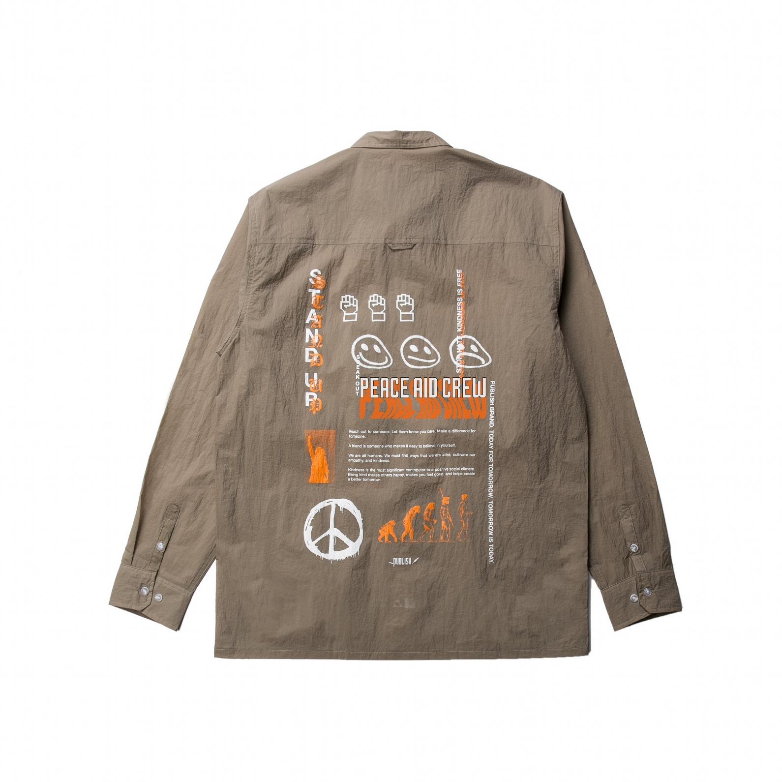 【PUBLISH BRAND/パブリッシュブランド】WEATS ナイロンシャツジャケット / STONE
