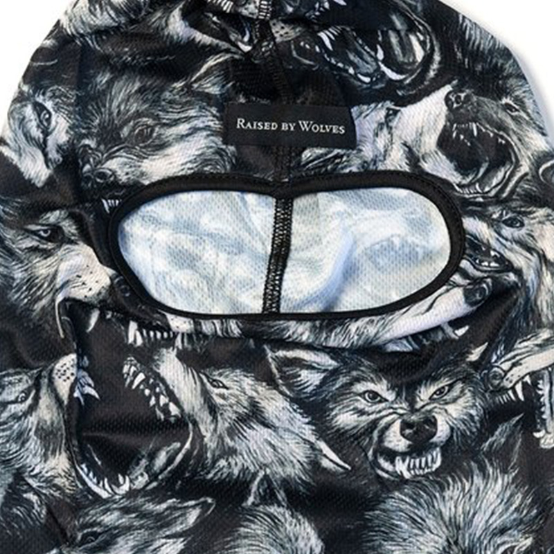 【RAISED BY WOLVES/レイズドバイウルブス】WOLF PACK FACEMASK フェイスマスク / BLACK