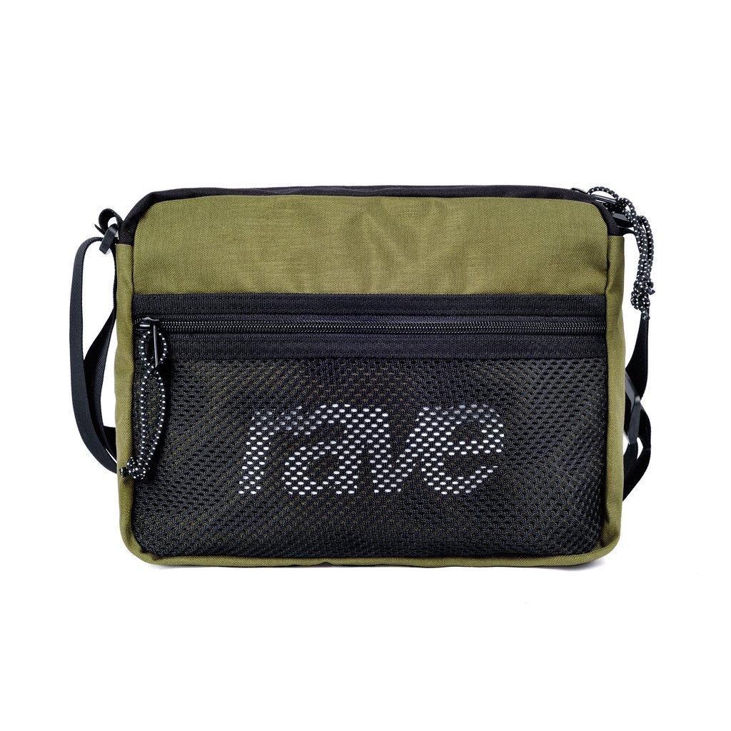 【RAVE SKATEBOARDS/レイブスケートボード】SHOULDER BAG OLIVE / BLACK  ショルダーバッグ /