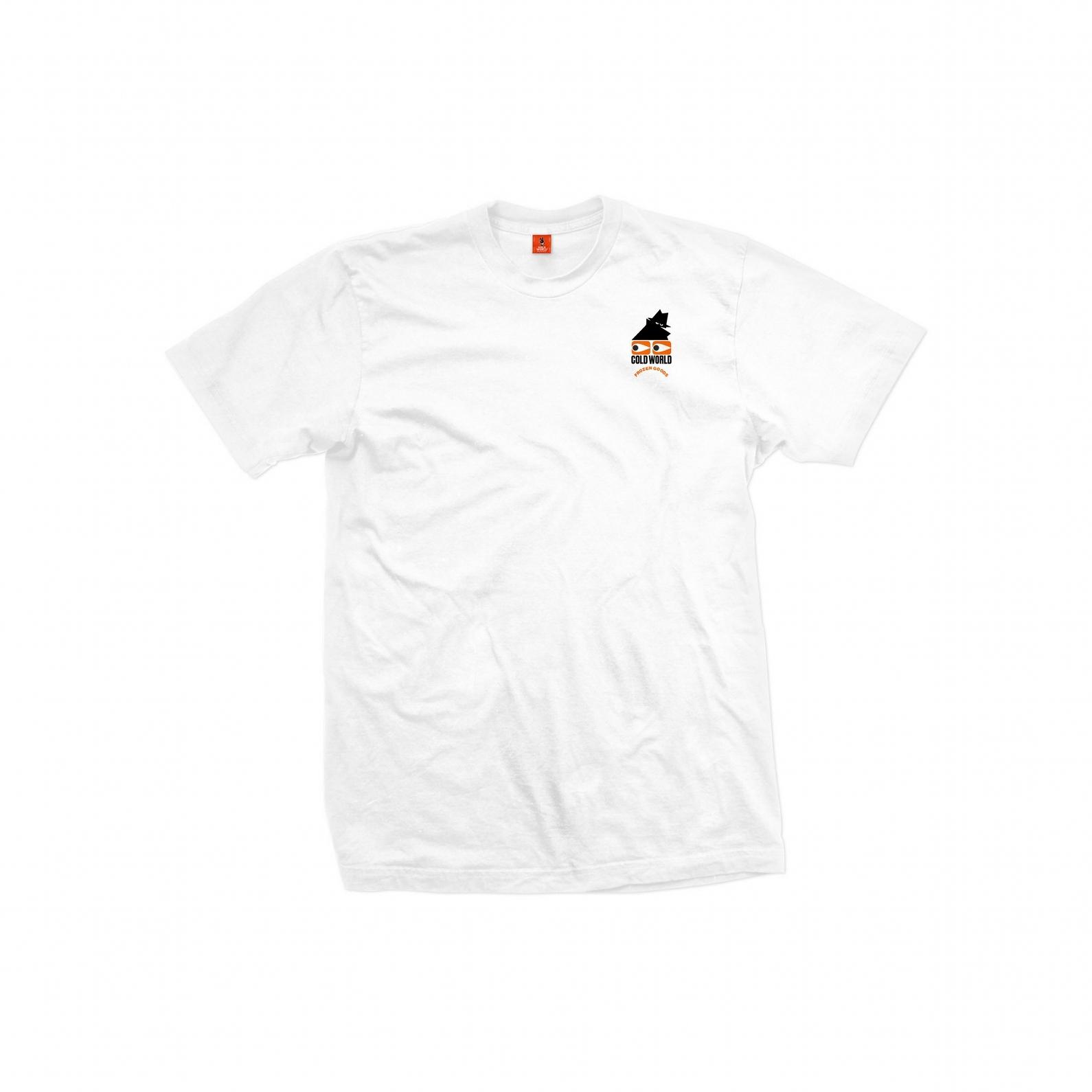 【COLD WORLD FROZEN GOODS/コールドワールドフローズングッズ】COMMON SENSE T-SHIRT Tシャツ / WHITE