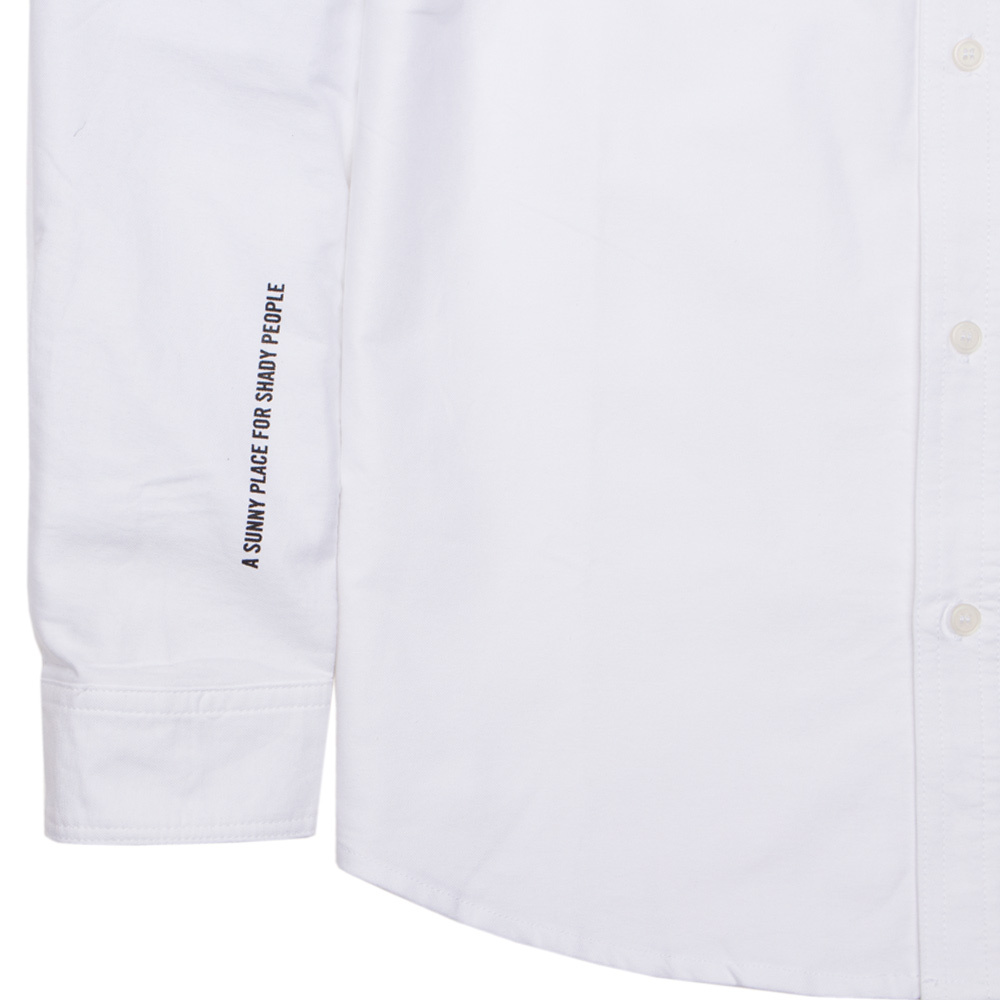 【ACAPULCO GOLD/アカプルコ ゴールド】AG APPLIQUE OXFORD BD SHIRTS 長袖シャツ / WHITE