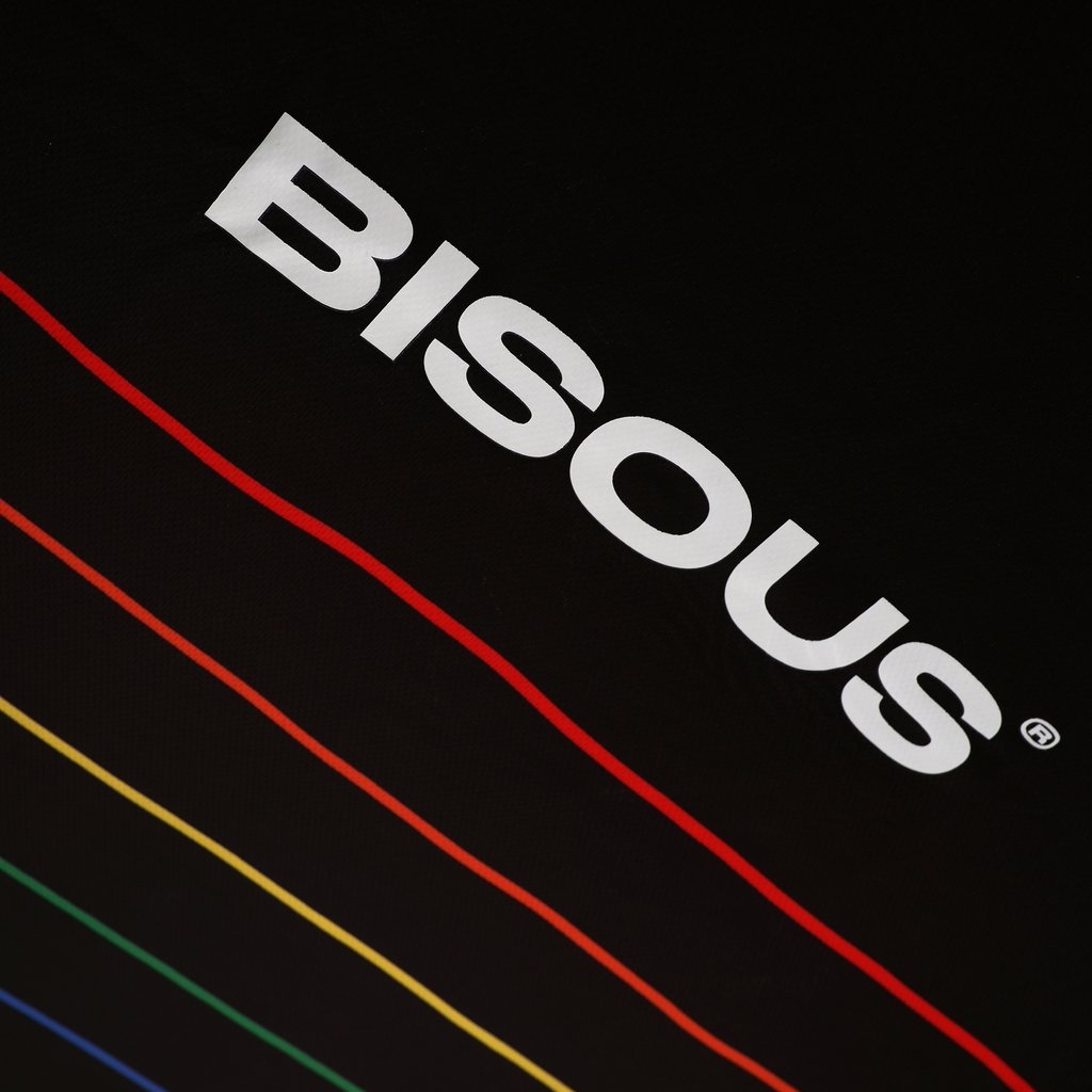 【RAVE SKATEBOARDS/レイブスケートボード】RAVE X BISOUS X LOVER'S FC JERSEY ゲームシャツジャージー / BLACK