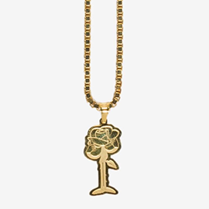 【PAS DE MER/パドゥメ】ROSE NECKLACE ネックレス / GOLD