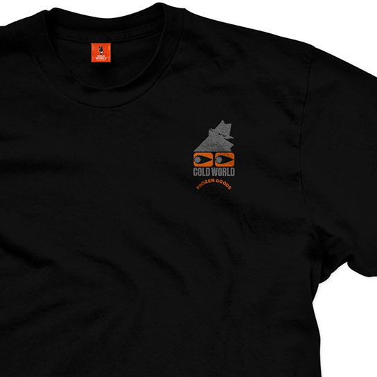 【COLD WORLD FROZEN GOODS/コールドワールドフローズングッズ】COMMON SENSE T-SHIRT Tシャツ / BLACK (3M INK)