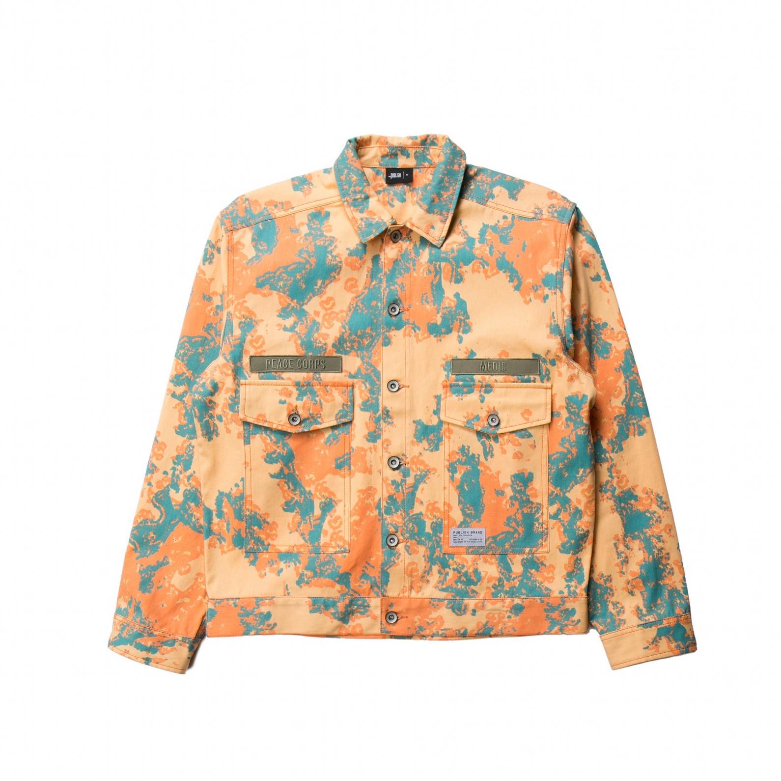 【PUBLISH BRAND/パブリッシュブランド】TOPAS カラーワークジャケット / SALMON