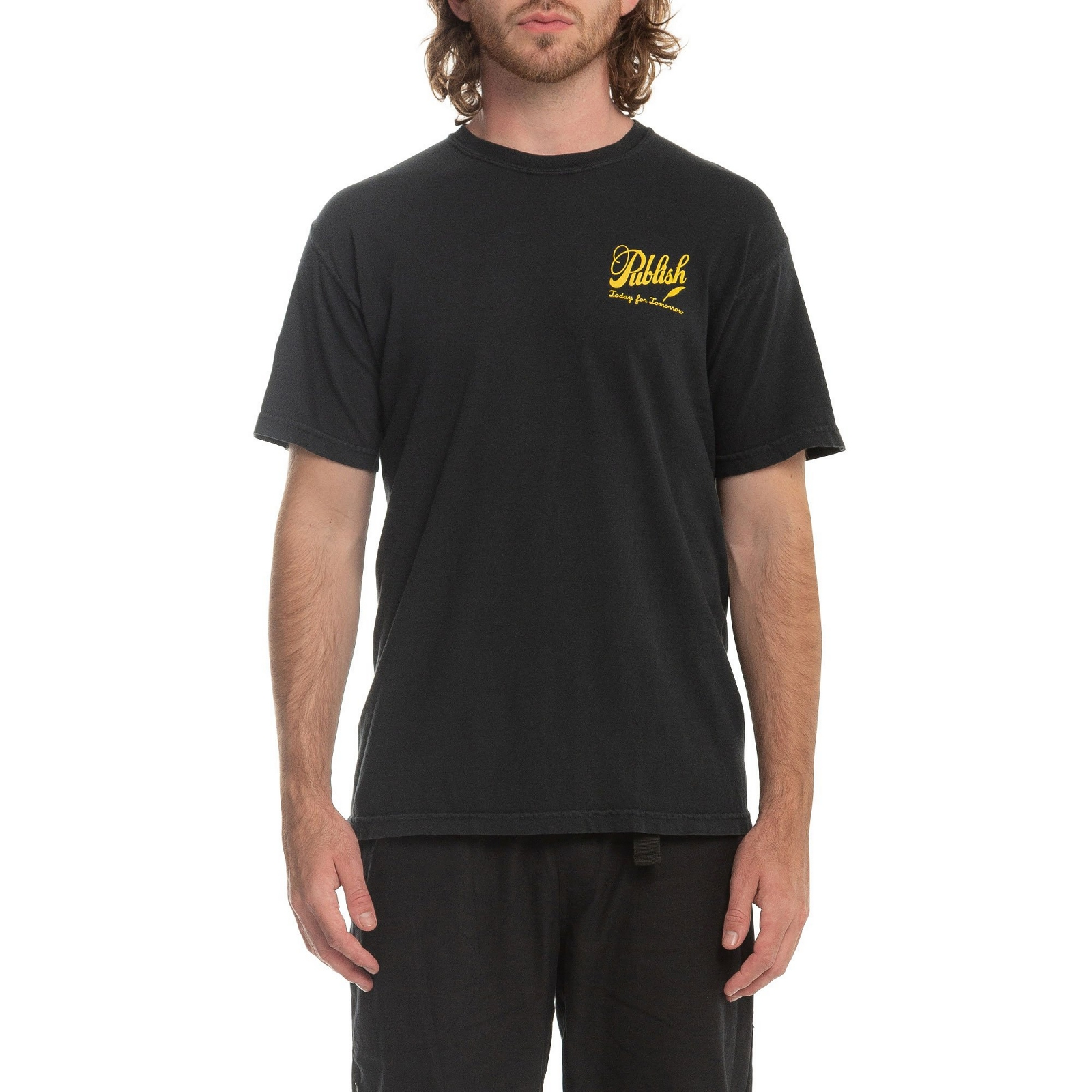 【PUBLISH BRAND/パブリッシュブランド】CALIGRAPHY Tシャツ / BLACK