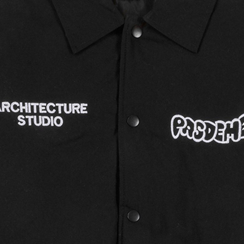 【PAS DE MER/パドゥメ】A.STUDIO COACH JACKET スタジオジャケット / BLACK