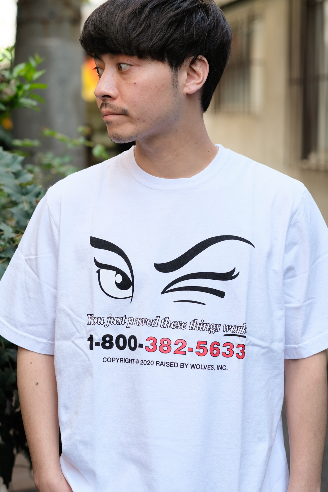 【RAISED BY WOLVES/レイズドバイウルブス】YOU JUST PROVED TEE Tシャツ / WHITE