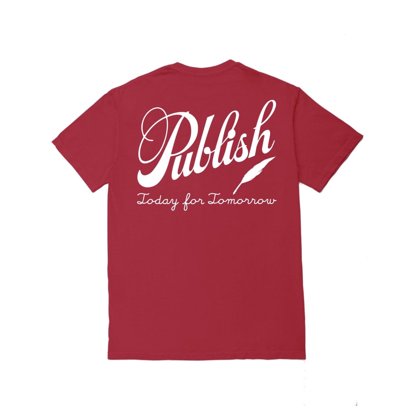 【PUBLISH BRAND/パブリッシュブランド】CALIGRAPHY Tシャツ / CARDINAL