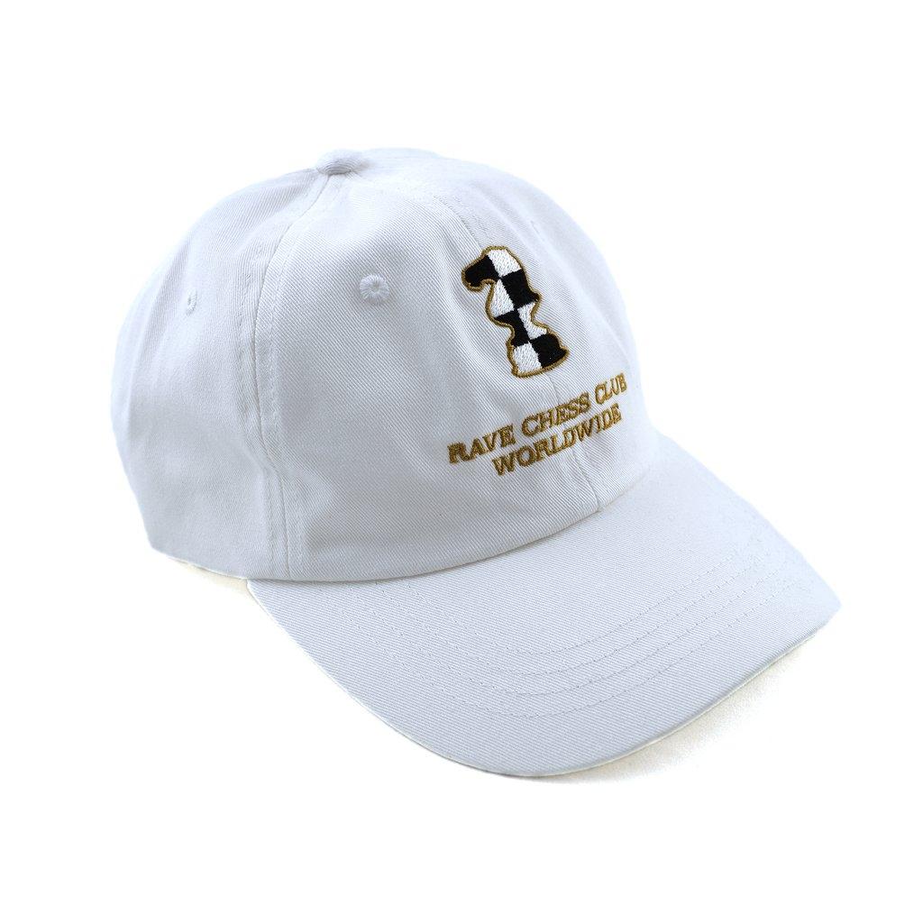 【RAVE SKATEBOARDS/レイブスケートボード】KASPAROV CAP ストラップバックキャップ / WHITE