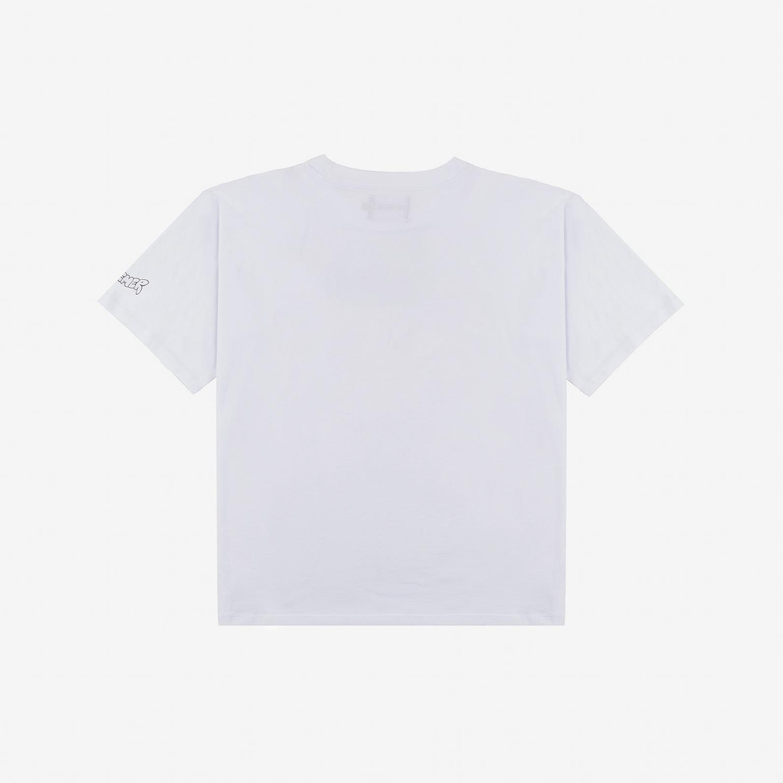 【PAS DE MER/パドゥメ】A.STUDIO OVERSIZE T-SHIRT オーバーサイズTシャツ / WHITE