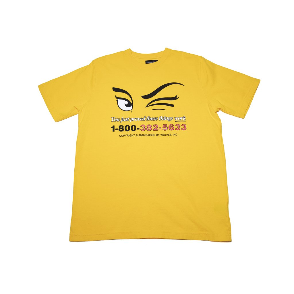 【RAISED BY WOLVES/レイズドバイウルブス】YOU JUST PROVED TEE Tシャツ / GOLD