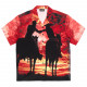 【PLEASURES/プレジャーズ×NEW ORDER/ニュー・オーダー】REGRET BUTTON DOWN 半袖シャツ / RED