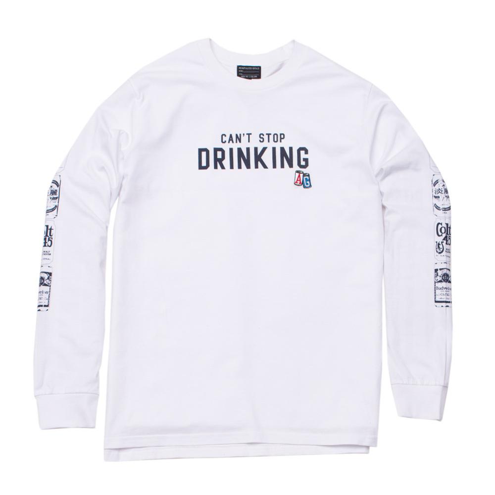 【ACAPULCO GOLD/アカプルコ ゴールド】BEER CAN LS TEE Tシャツ / WHITE