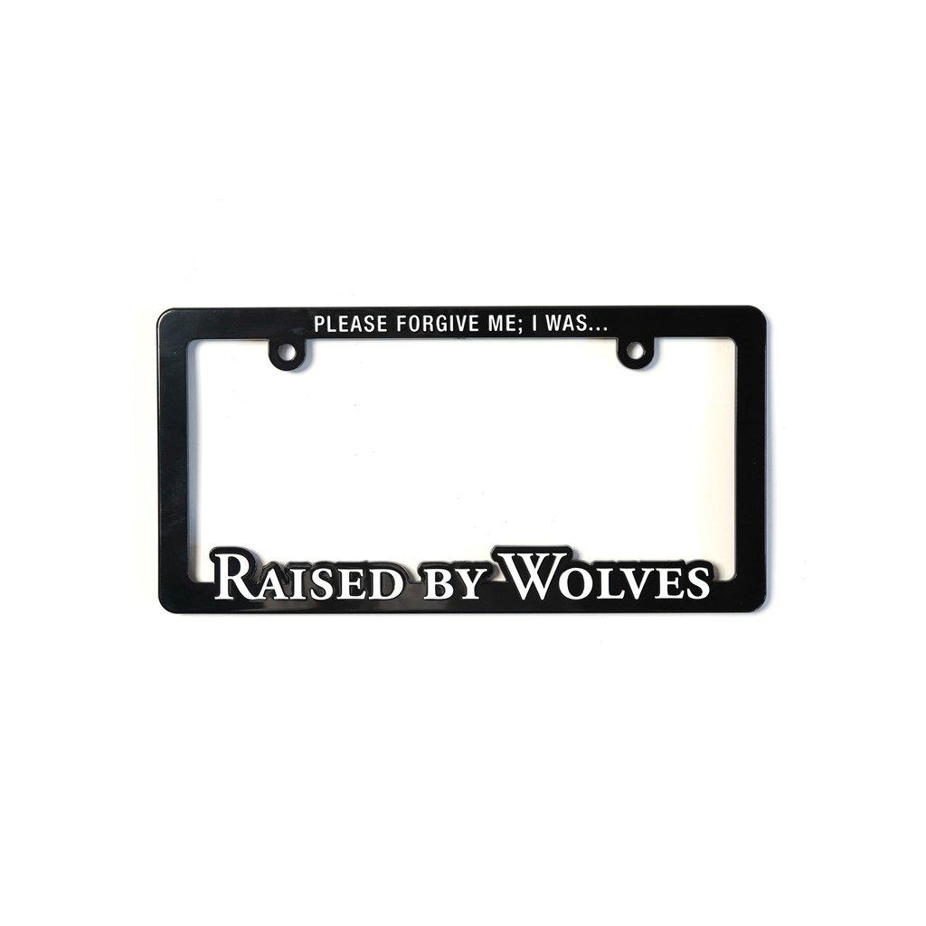 【RAISED BY WOLVES/レイズドバイウルブス】LICENSE PLATE FRAME ライセンスプレートフレーム / BLACK